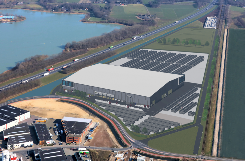 Nieuwbouw betoncentrale Bosch Beton!