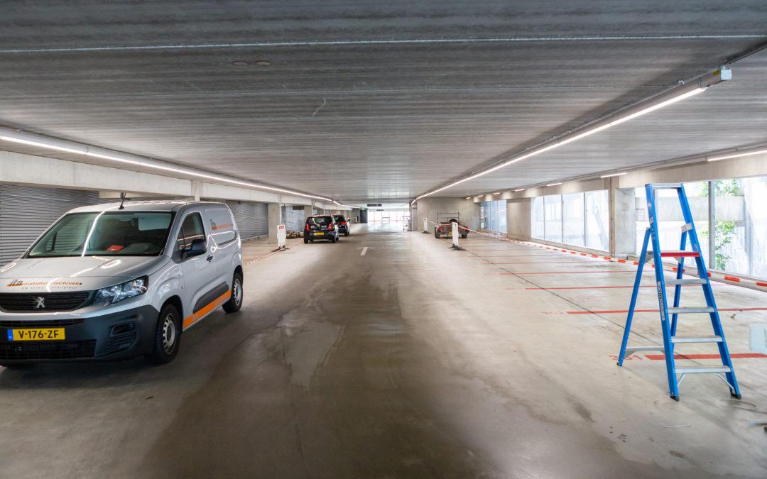 Vervanging verlichting Parkeergarage Universiteit Utrecht