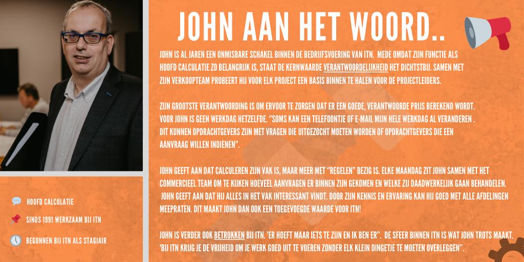 Medewerker John aan het woord!