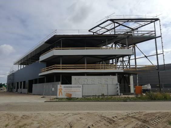 Update nieuwbouw kantoorpand Bouwbedrijf Kreeft