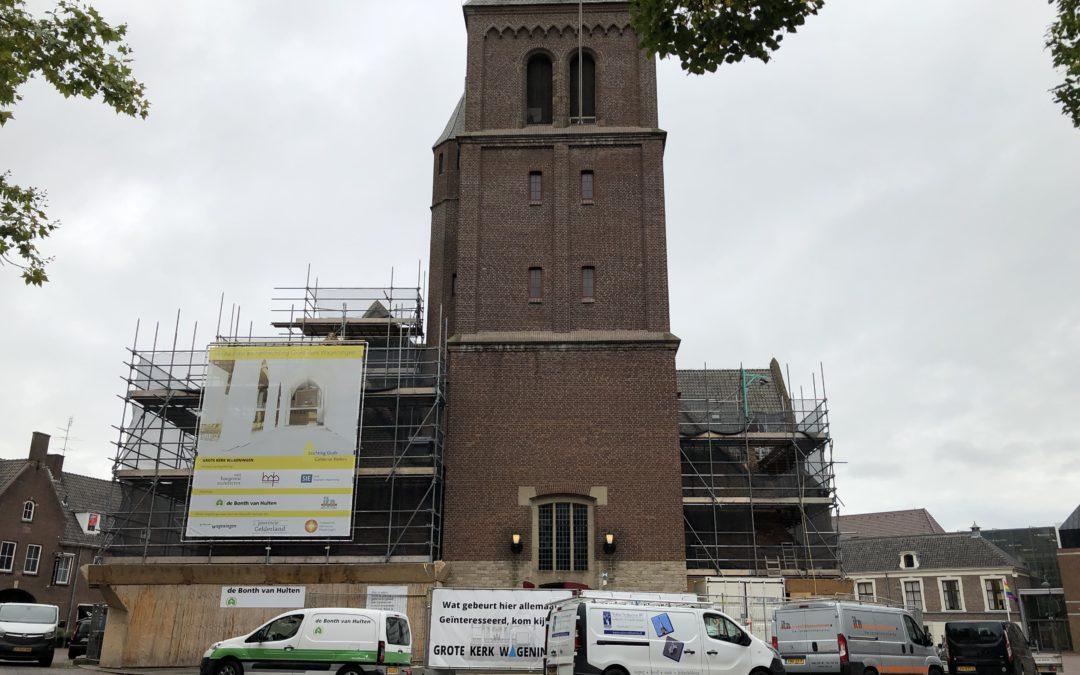 Rondleiding scholen in de Grote Kerk in Wageningen